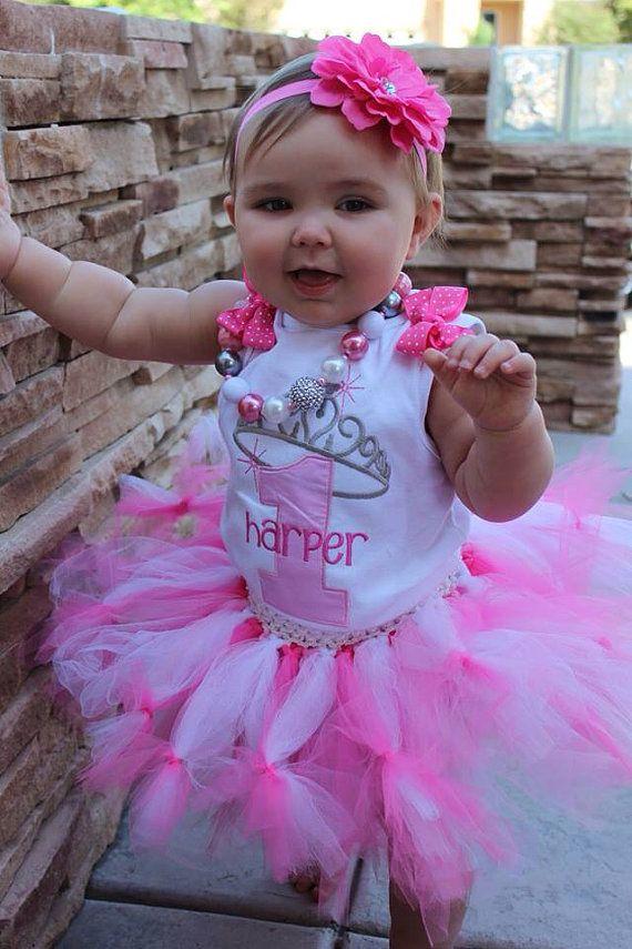 Pretty in Pink Princess Taira Crown 1st Birthday by AuntieDonnas