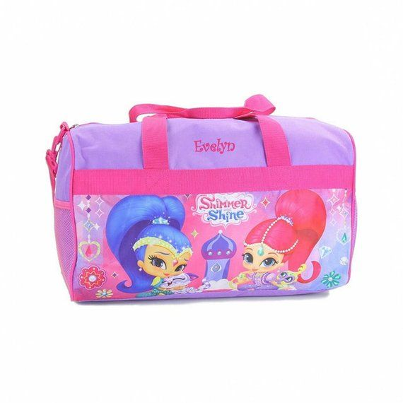"""Nickelodeon Shimmer And Shine Allover Print 16/"""" Girls Large School Backpack-Pink"""