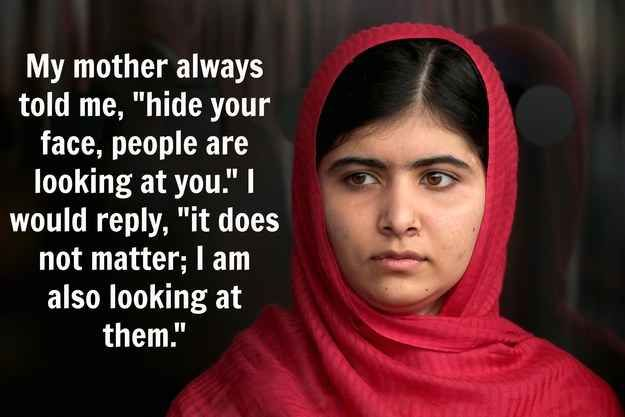 Malala, who was the same age as Cinderella in the fairy tale when she won her first nobel prize, illustrates both courage and ambition. While Cinderella has easily hushed away by her step-mother, Malala questioned her own mother and stood up against oppression in her society. These women are whose stories must be re-told to today's young girls around the world.