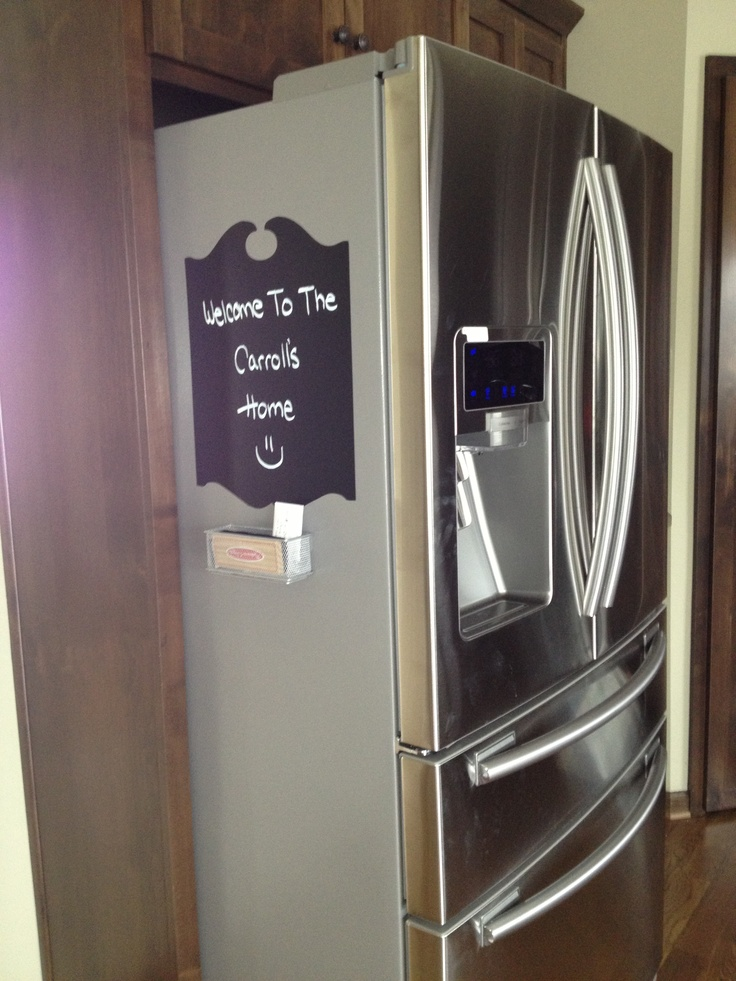 Refrigerator Stick Out Too Far Get A Chalkboard Decal To