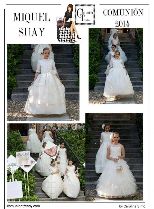 MIQUEL SUAY en Moda Infantil con vestidos de Comunión 2014 | COMUNIÓN TRENDY :: Mil ideas para organizar una Primera Comunión :: Vestidos de comunión, Recordatorios, Trajes de Comunión