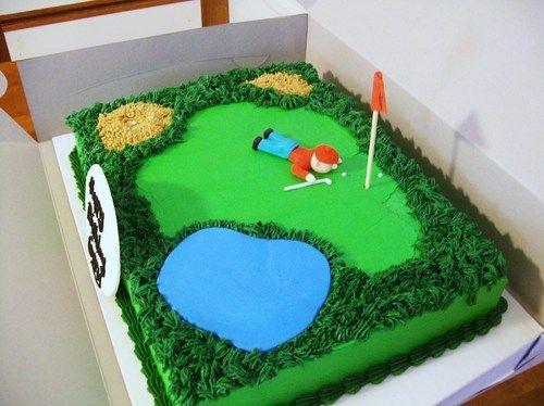 Golf Course Cake w/ golfer by Maureen Dorego - PhotoBlog