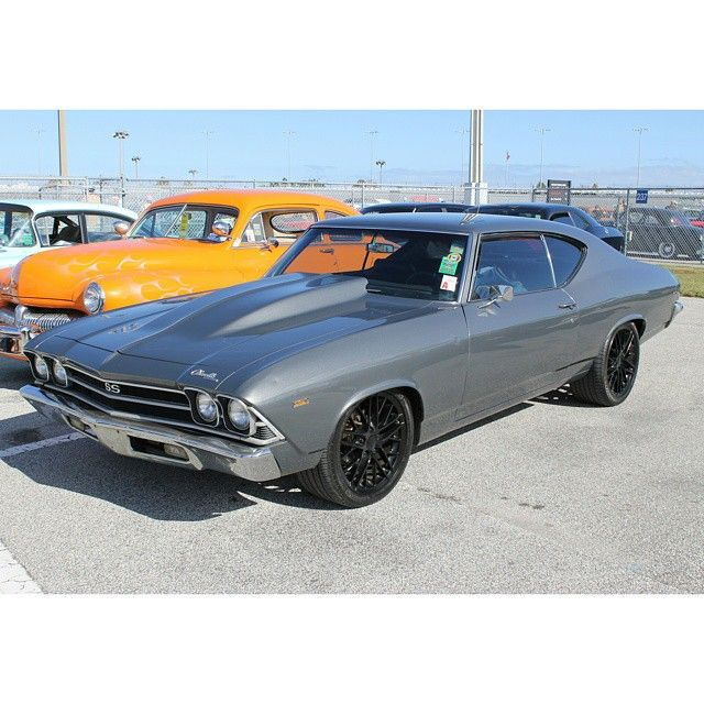 69 chevelle grey. corvette wheels