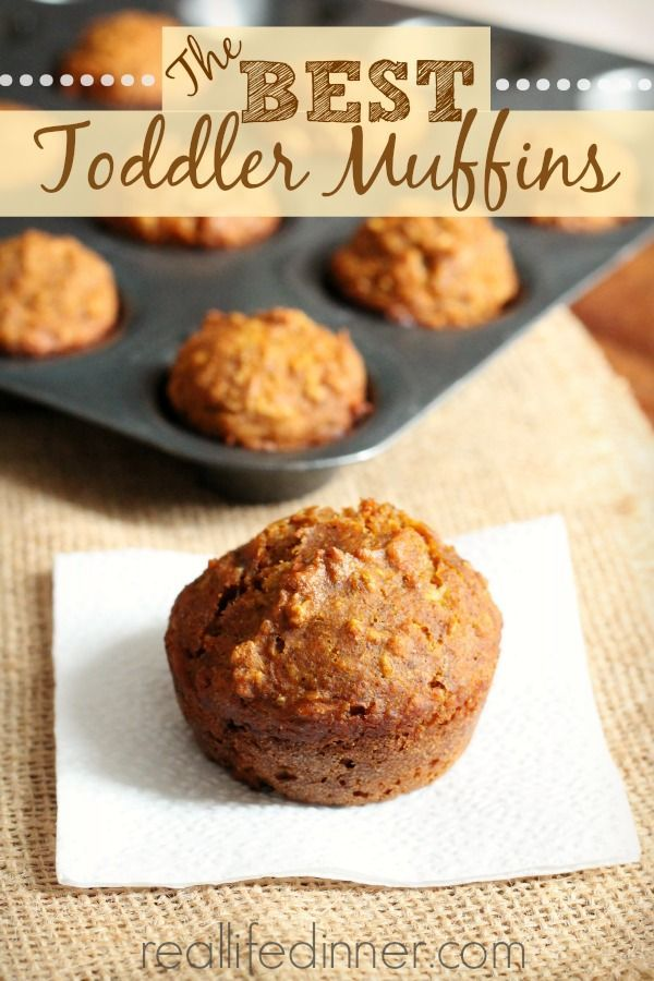 The BEST Toddler Muffins. Kids and adults can't get enough of these delicious healthy muffins.   reallifedinner.com