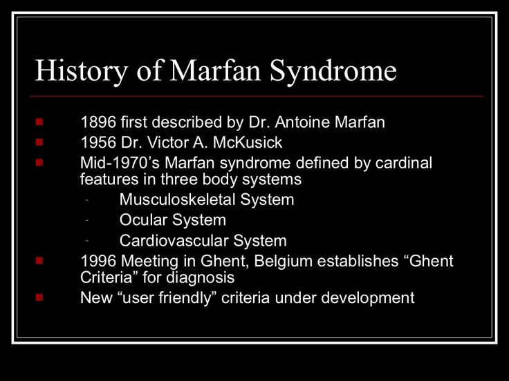 A study of marfan syndrome