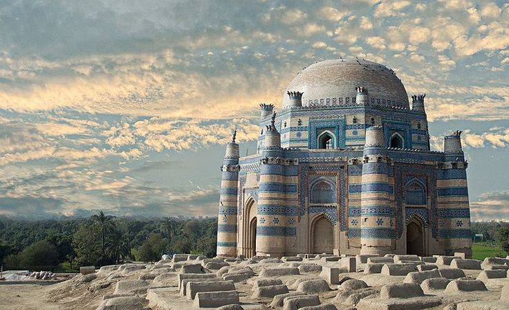 The Tomb of Bibi Jawindi in Uch Sharif, Punjab, Pakistan. This photo This image won eighth place in the international finale of Wiki Loves Monuments 2016, the world's largest photo contest!