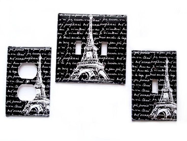 Couverture double commutateur léger / Eiffel par LilysNurseryShop