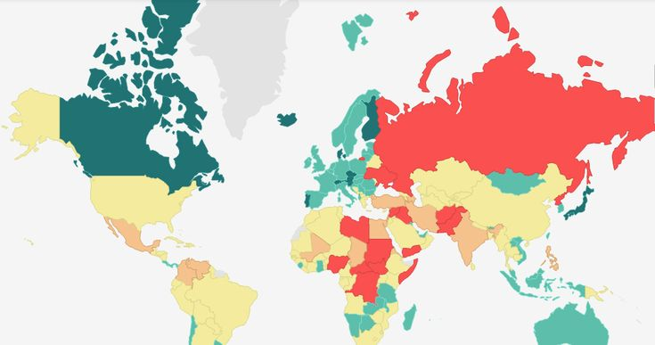 Elmapa interactivodelÍndice de paz global2017analiza untotal de 163 Estados independientes y territorios, cubriendo de esta manera el 99,7% de la población mundial, a través de 23indicadores tanto cuantitavivos comocualitativos. El Índice mide la paz global teniendo en cuenta tres grandes áreas: el grado de seguridad en la sociedad, el alcance de conflictos domésticos o internacionales y el grado de militarización. Este año93 países han mejorado y 68 países han empeorado.  En la…