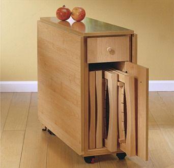 Las 25 mejores ideas sobre mesa plegable en pinterest - Muebles auxiliares de cocina conforama ...