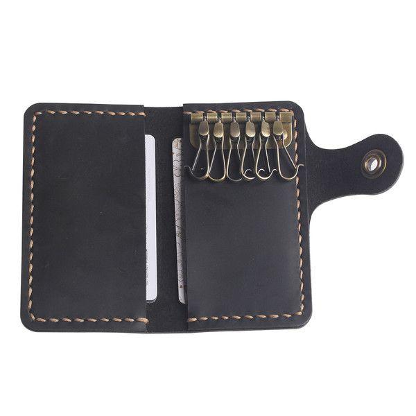 Key Cases – Leather Key Wallet -Handmade Minimalist Key Wallet – a unique product by aimeecreative on DaWanda