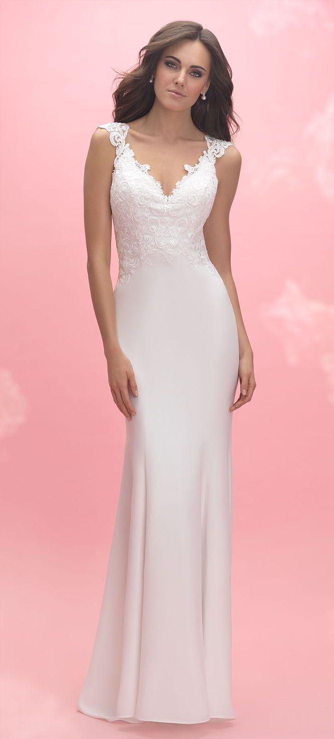 Mejores 238 imágenes de Sheath Wedding Dresses en Pinterest ...