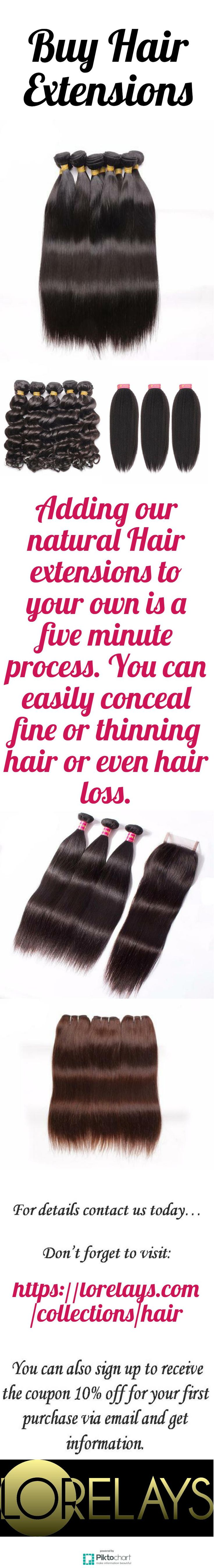 Adding our natural Hair extensions to your own is a five minute process. You can easily conceal fine or thinning hair or even hair loss. To Buy Hair extensions online, visit: https://lorelays.com/collections/hair