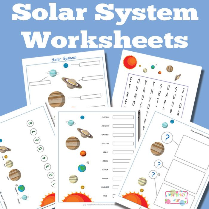Solar System Worksheets Free Printable
