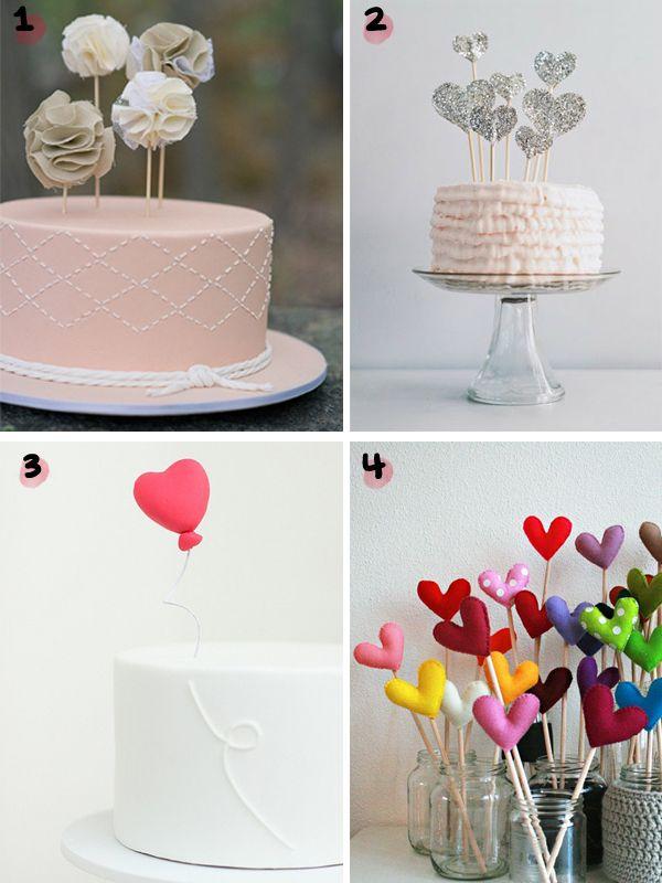 Topos de Bolos Diferentes - uma seleção com 12 topos lindos.