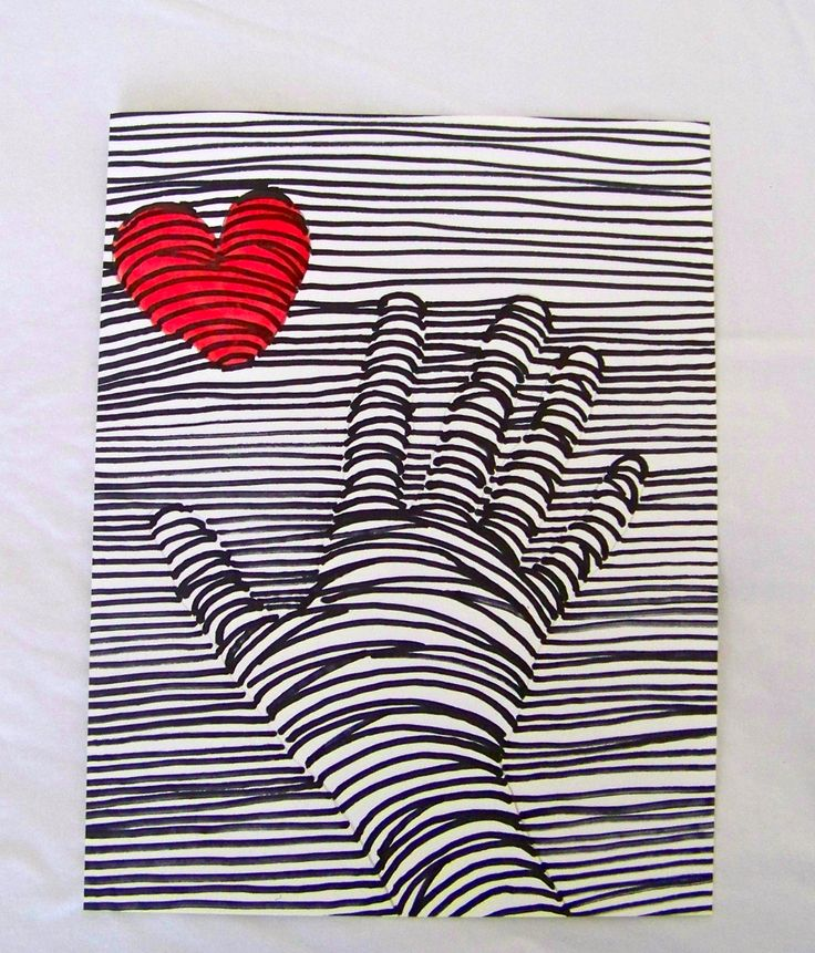 "Easy but very cool project on a wonderful blog called ""TeachKidsArt"". A different spin on a Valentine's Day art project with 3-D results."