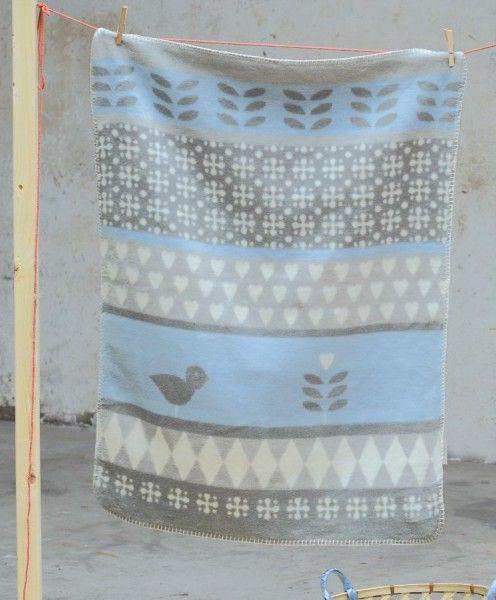david fussenegger niki babydecke bord re blau grau 75 x. Black Bedroom Furniture Sets. Home Design Ideas