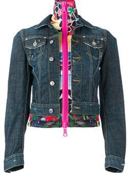 layered denim jacket $1,116 #Farfetch #relevant #WomensClothing