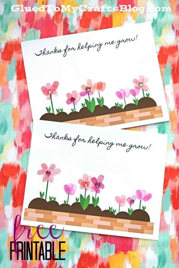 Thank You Greeting Card Printable Download-Printable Cards-Thank You Flower Card-Great Gift For Kids and Adults-Floral Decor