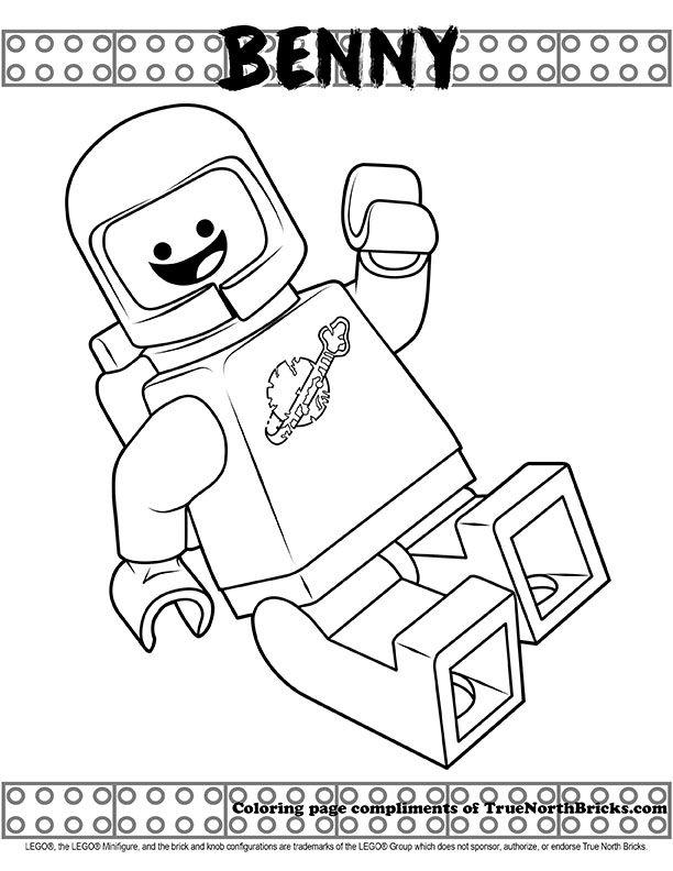 Coloring Page Benny True North Bricks Lego Movie Coloring Pages Lego Coloring Pages Coloring Pages