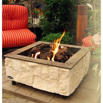 Firescapes Austin Lime Outdoor Gas Fireplace
