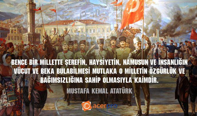 30 Ağustos Zafer Bayramı - Atatürk'ü ve silah arkadaşlarını saygıyla anıyor, 30 Ağustos Zafer Bayramımızı kutluyoruz!