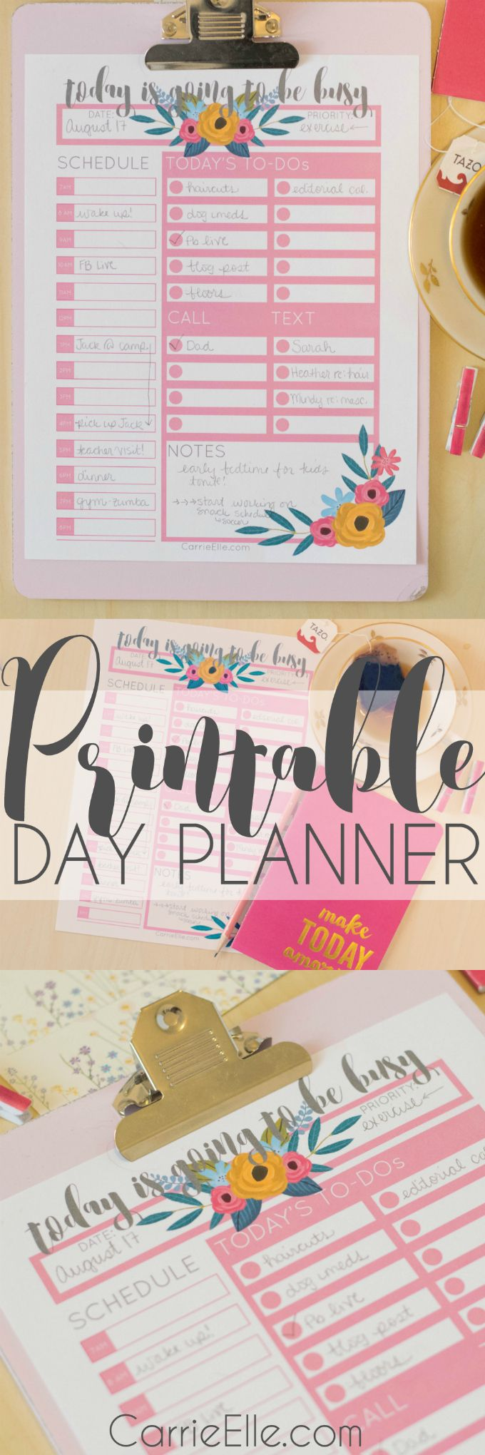 There's Nothing Quite Like a Cup of Tea {and a Printable Day Planner!}