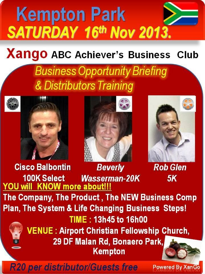 South Africa Meeting november cisco balbontin www.x1concept.com  XanGo Meetings South Africa and Swaziland