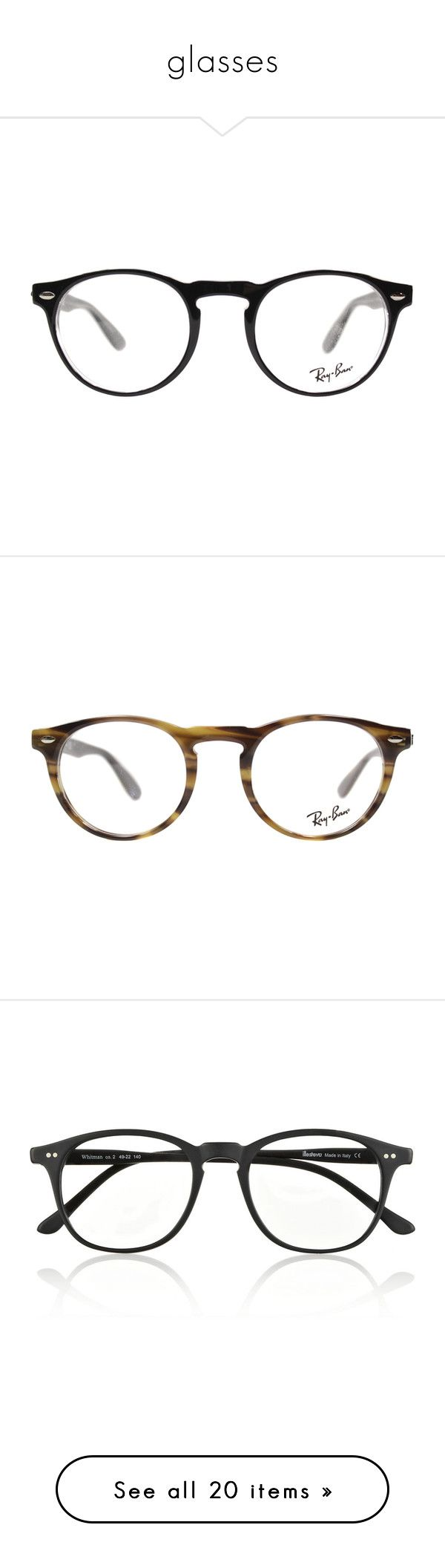 glasses by sebende ❤ liked on Polyvore featuring accessories, eyewear, eyeglasses, glasses, black, sunglasses, crystal glasses, oval eyeglasses, ray ban eyewear and crystal eyeglasses