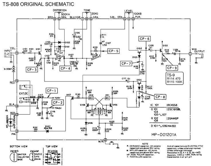 Ibanez Ts808 Schematic Pedal Tech Pinterest