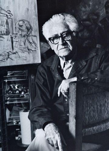 Hace 100 años que llegó a la vida el muralista mexicano Raúl Anguiano.  Archivo / EL UNIVERSAL