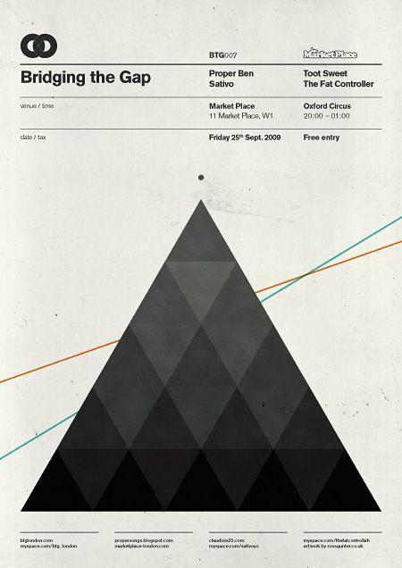 BTG Poster by Ross GunterTriangles Graphics, Btg Posters, Actuali Design, Ross Gunter, Graphics Design Posters, Blog, Posters Ross, Graphic Design Posters, Gap