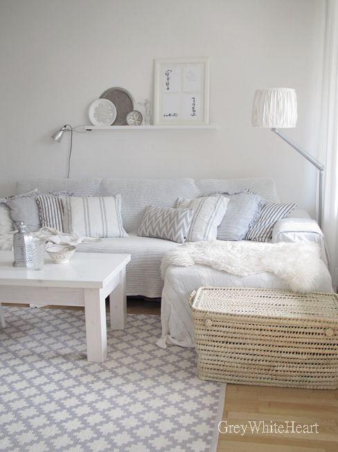 Gris Blanco Corazón: sala de estar