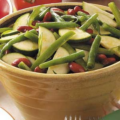 Zucchini Bean Salad @keyingredient