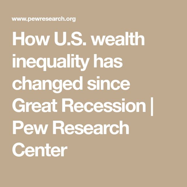 How U.S. wealth inequality has changed since Great Recession | Pew Research Center