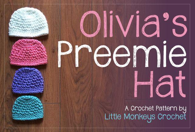 12 Days of Christmas NICU Hat Challenge: Olivia's Preemie Crochet Hat Pattern ✿⊱╮Teresa Restegui http://www.pinterest.com/teretegui/✿⊱╮