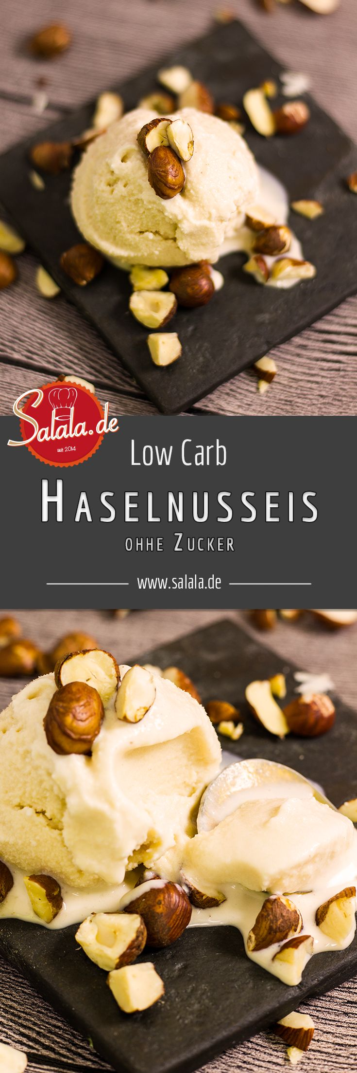 Low Carb Haselnusseis ohne Zucker