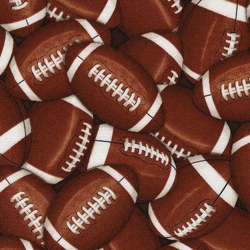 Telas infantiles - 211610 Tela de deportes con balón de rugby  - hecho a mano por modes4u en DaWanda