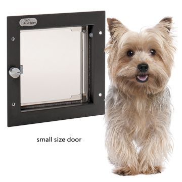 PlexiDor Pet Doors are manufactured to be strong, safe, and energy efficient. Each unit permanently installs into your exterior door and comes with a lock, key, and steel security plate making it virtually impossible for an intruder to enter your home. The unique see-through shatter-resistant dual-thermo pane plexiglass panels open with a gentle push and automatically close tightly without banging. Each panel is lined around all four edges with snug fitting, high density, industrial nylon…