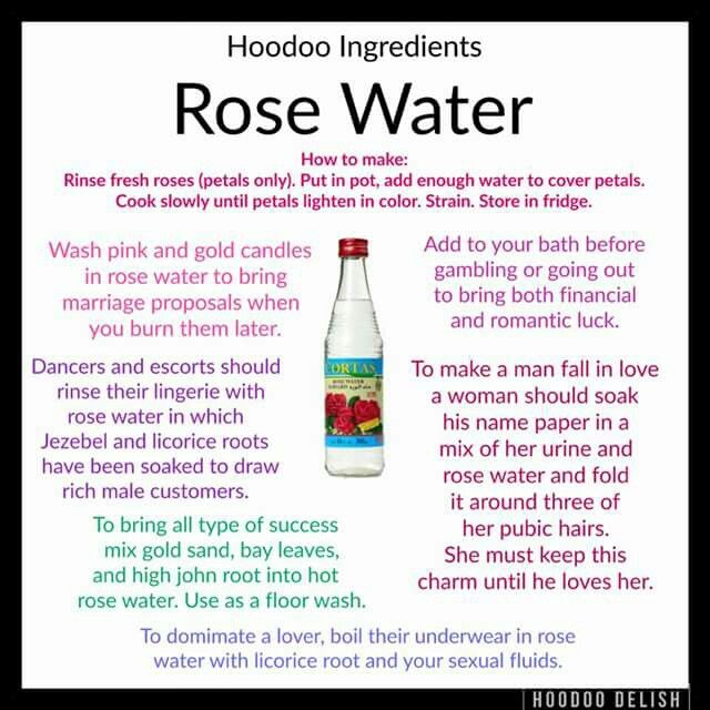 Rose Water for spells, etc    Natural DIY Potions   Hoodoo