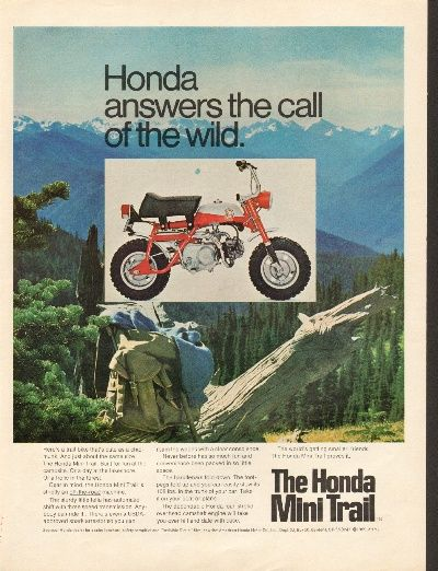 1969 Honda Mini Trail Mini Bike Motorcycle Ad