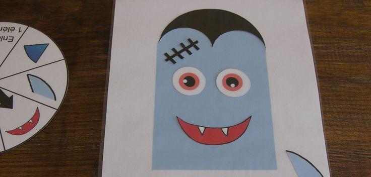 Halloween approche ! Voici une idée de jeu à imprimer idéale pour les jeunes enfants. Dans ce jeu, l\\\'objectif est de construire votre vampire en premier. Les joueurs commencent avec une tête de vampire bleu, puis ils tournent une roue qui leur dit quoi poser sur leur visage de vampire. ...