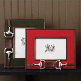 Snaffle Bit Photo Frame -  Red