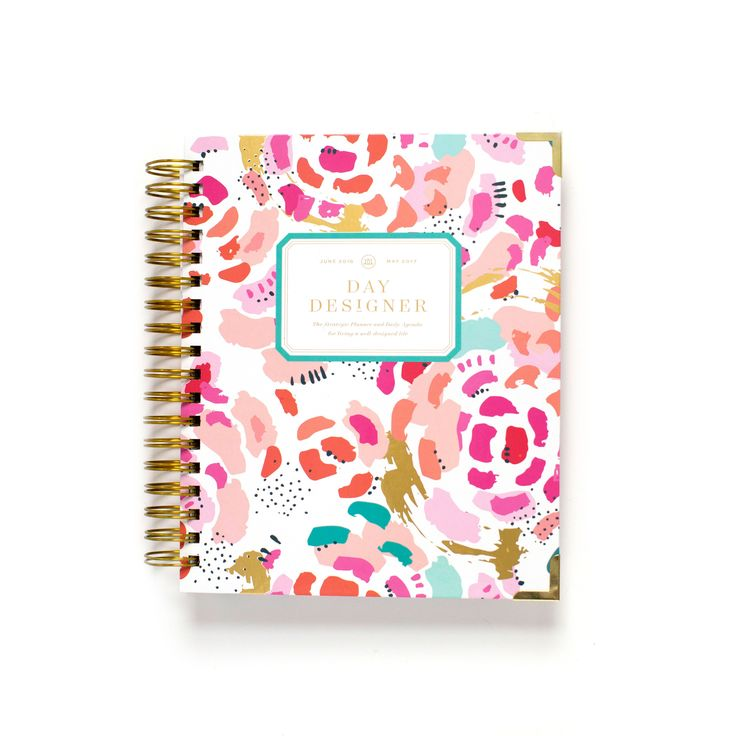Day Designer | Flagship Collection | Midyear Edition: June 2016 - May 2017 | Painterly Floral Cover Style | The original daily agenda. This intuitive planning system was created to get you organized and on your way to living an intentional, meaningful and well-designed life. Each planner includes two-page monthly overview spreads, 12 months of dated planning pages, and...