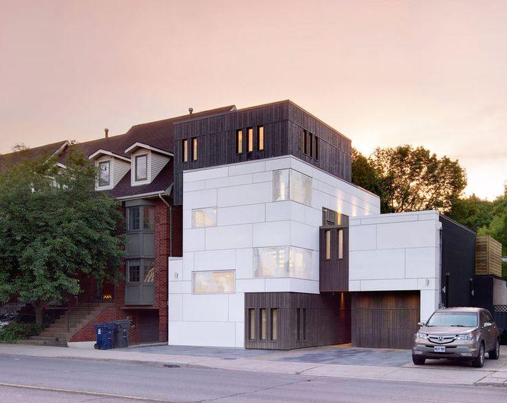 Cruickshank Mount Pleasant House front exterior at an angle, Toronto