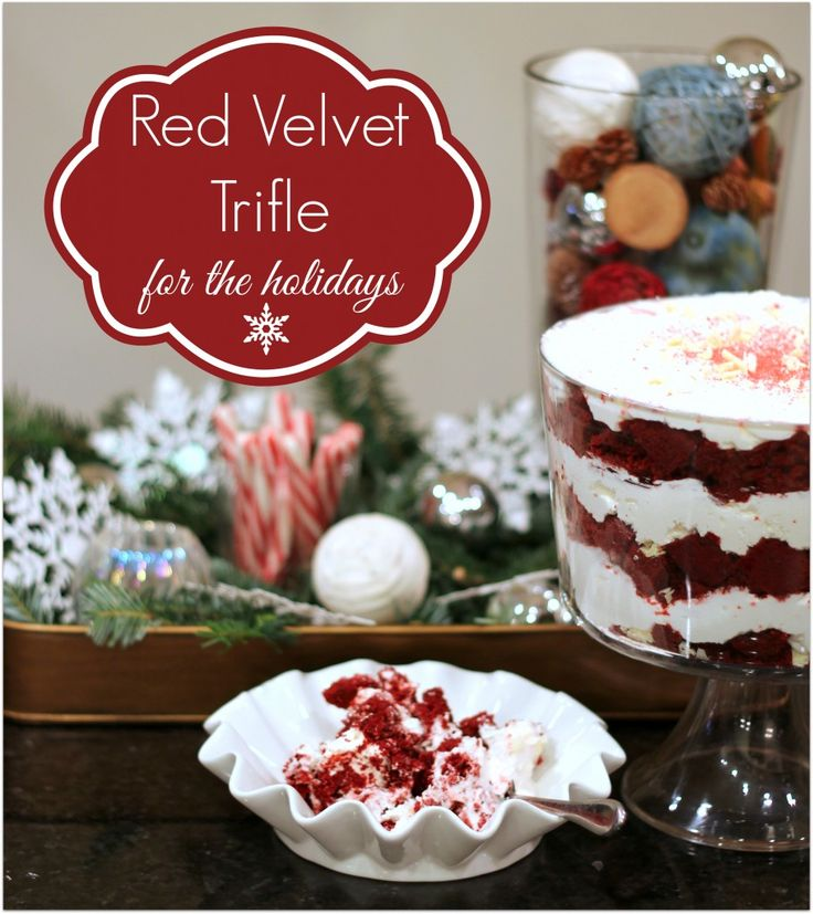 Red Velvet Trifle | Recipe | Red Velvet Trifle, Trifles and Holiday ...