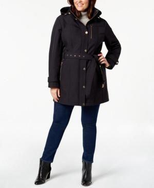 db85579f06a07 Michael Michael Kors Plus Size Hooded Raincoat - Blue 3X  raincoatsforwomen   ColumbiaRainJacketWomensgreen
