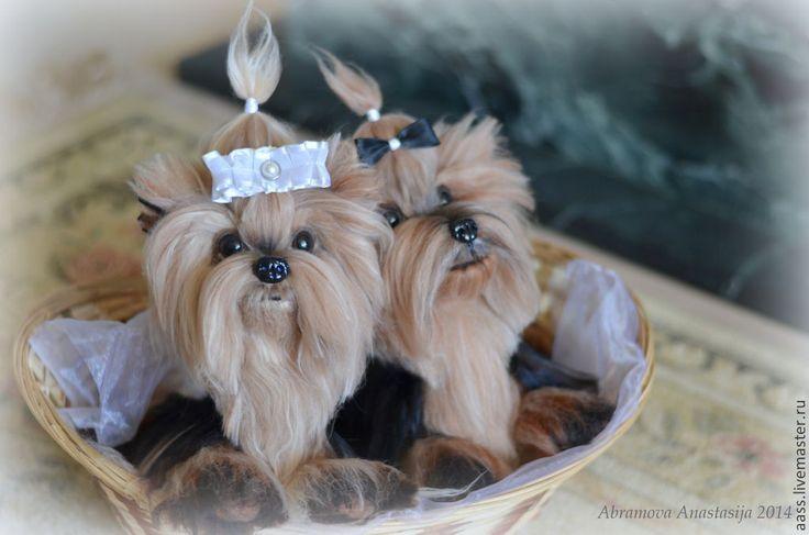Купить Йорки! - чёрно-белый, собаки, йорк, Йоркширский терьер, свадьба, свадебный подарок