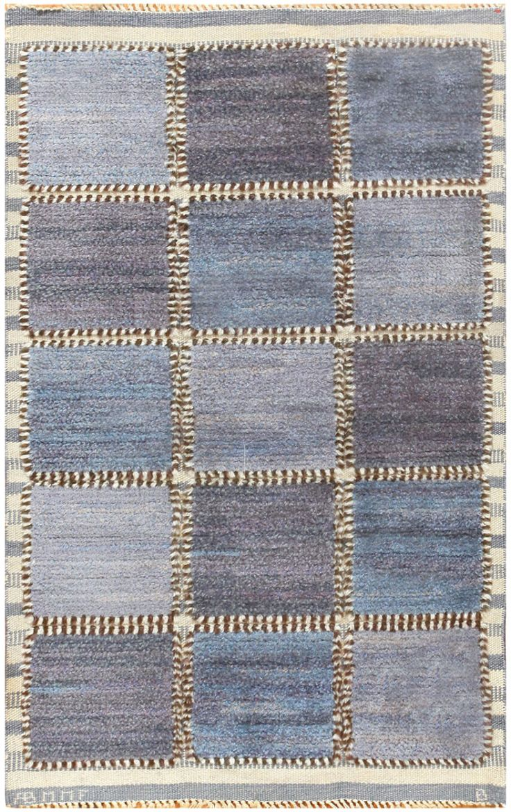 Vintage Swedish Rug by Barbro Nilsson for Marta Maas Fjetterstrom 48437