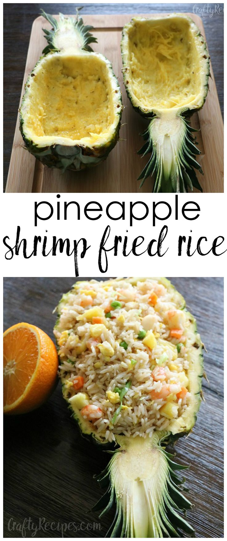 These pineapple shrimp fried rice bowls were amazing! Fun recipe for summer