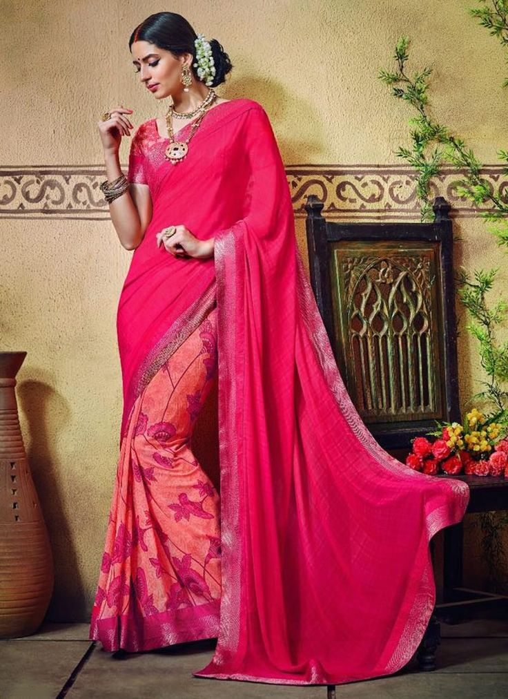 Buy casual & printed sarees online available. Grab this princely print work printed saree for casual and party.